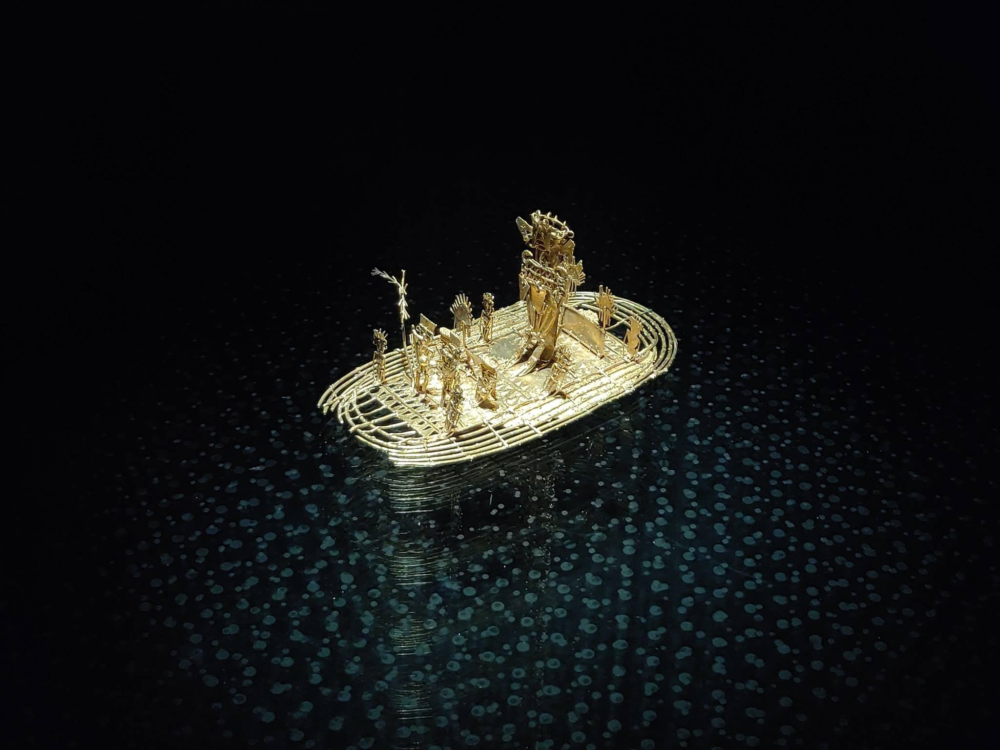 Uno dei pezzi più pregiati al Museo De Oro di Bogotà in Colombia
