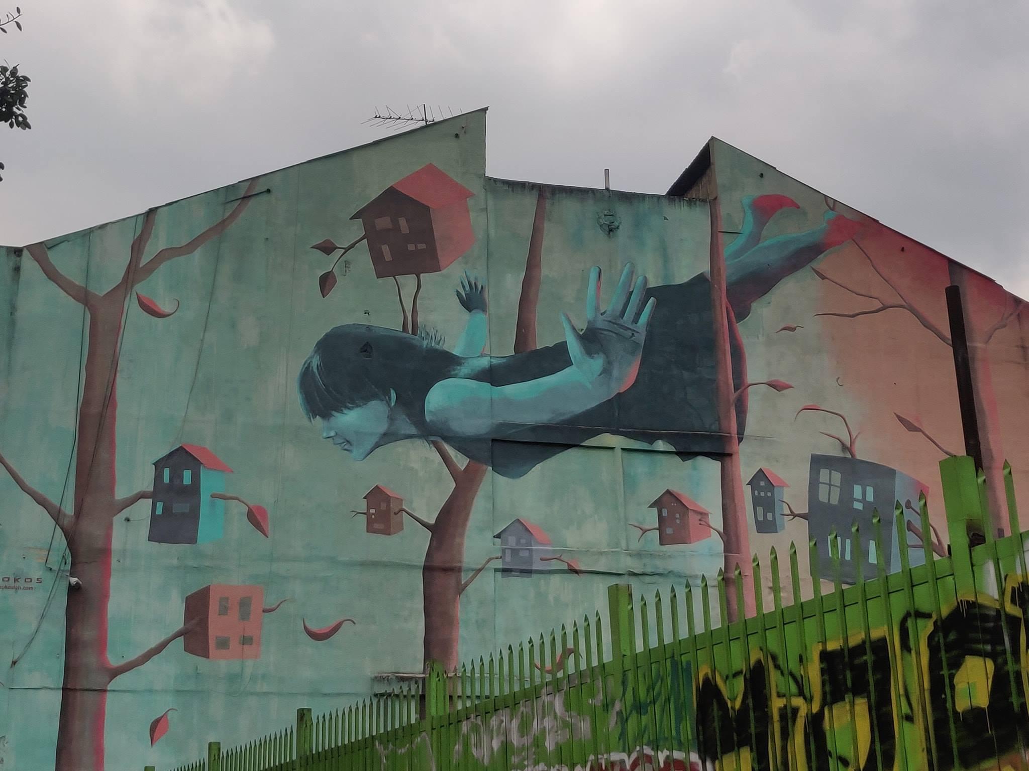 Murales a Santa Fe, quartiere nel centro di Bogotà
