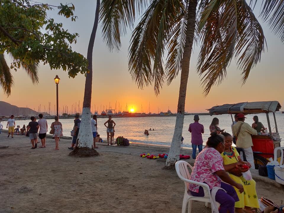 Lungomare di Santa Marta nel caribe colombiano