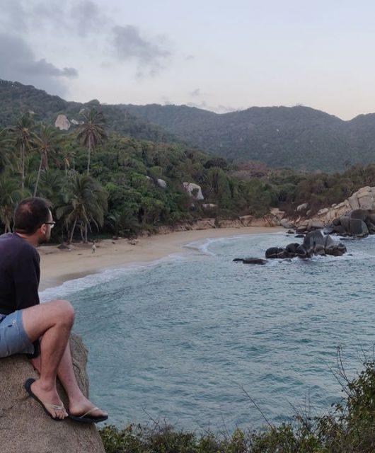 Una delle due insenature di Cabo San Juan dentro al Parque de Tayrona nel caribe colombiano
