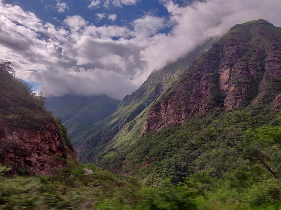 Le montagne nei pressi di Chachapoyas