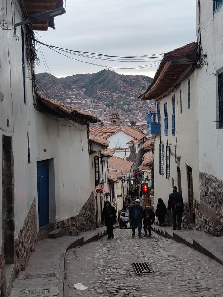 Ripide vie di Cuzco nel quartiere San Blas