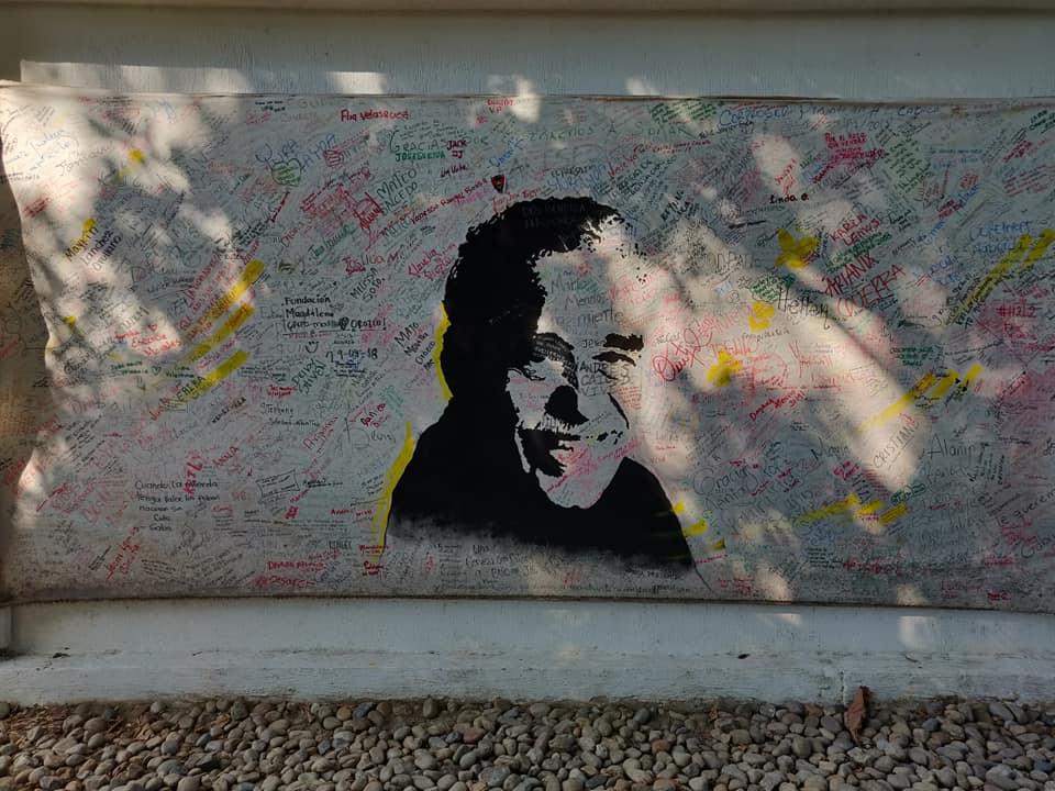 Murales alla casa-museo di Gabriel Garcia Marquez ad Aracataca in Colombia