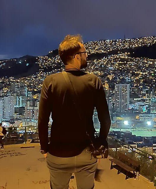 La Paz di notte vista dal mirador Killi Killi