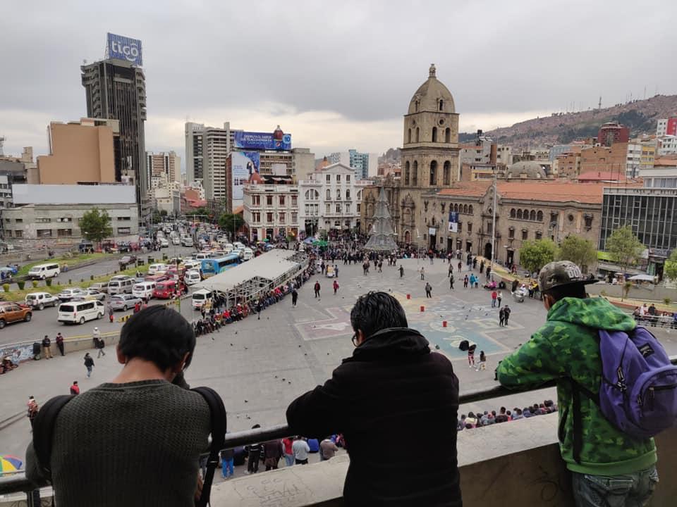 Plaza Mayor de San Francisco a La Paz in Bolivia