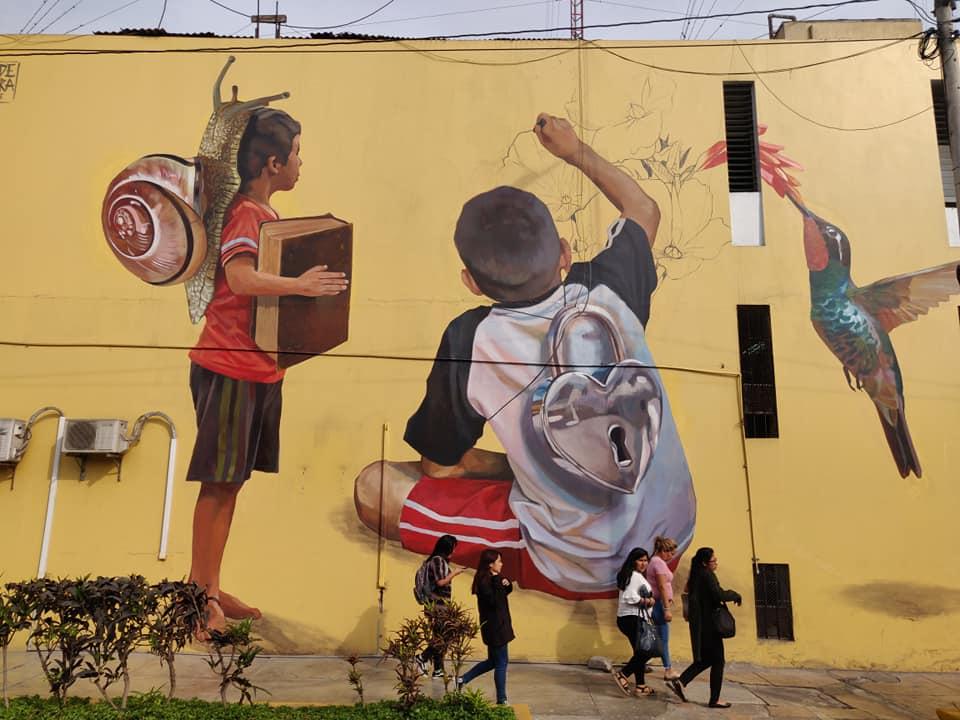 I murales del quartiere Barranco a Lima