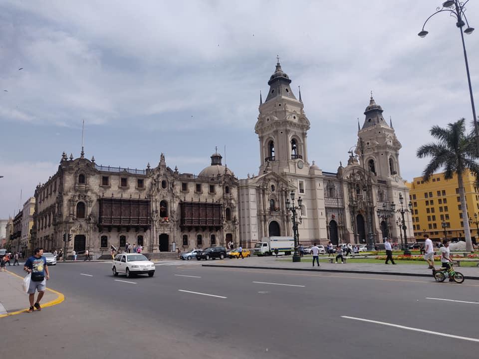 La cattedrale di Lima in Plaza de Armas