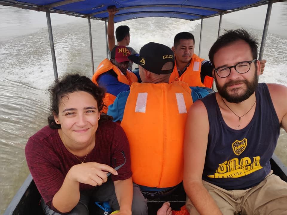 Attraversamento del confine tra Perù ed Ecuador lungo la foresta amazzonica