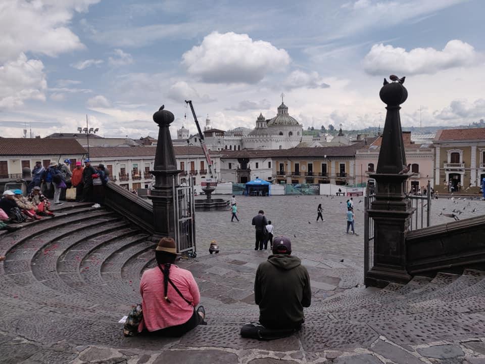 La Plaza de San Francisco a Quito in Ecuador