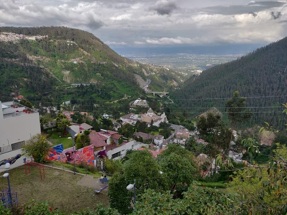 Dal quartiere di La Paz a Quito, la vista su Guapulo e il suo complesso religioso