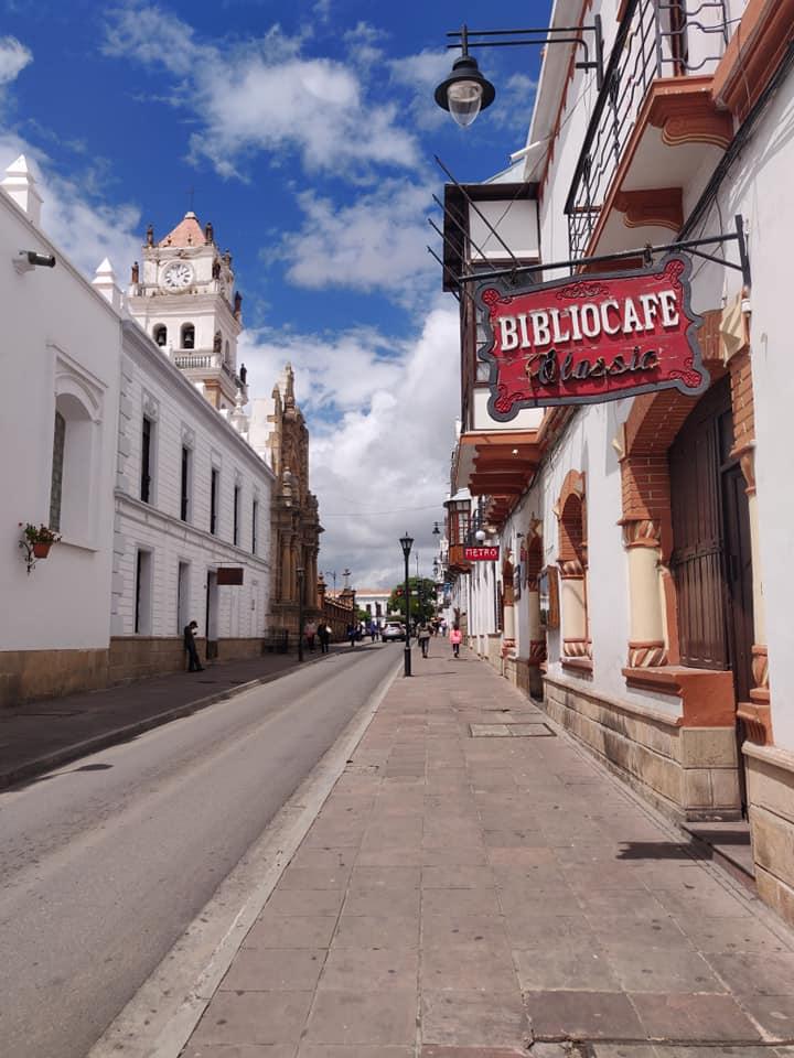 le vie del centro di Sucre in Bolivia