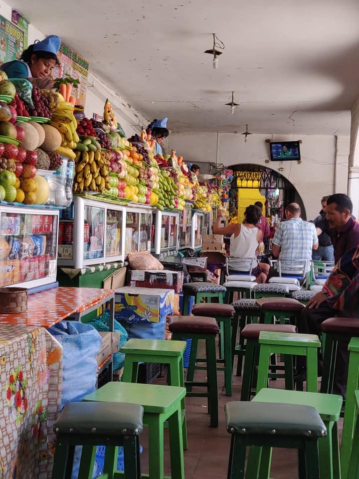 mercato centrale di Sucre in Bolivia