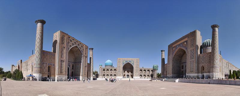 Il Registan di Samarcanda è una tappa che non manca mai in un tour dell'Uzbekistan