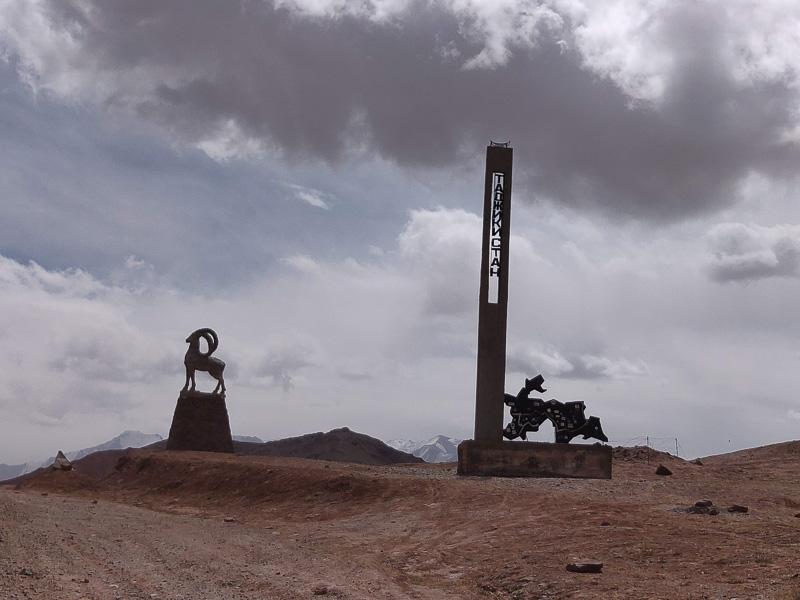 Altopiano del Pamir: l'inizio del territorio Tagiko al confine con il Kirghizistan