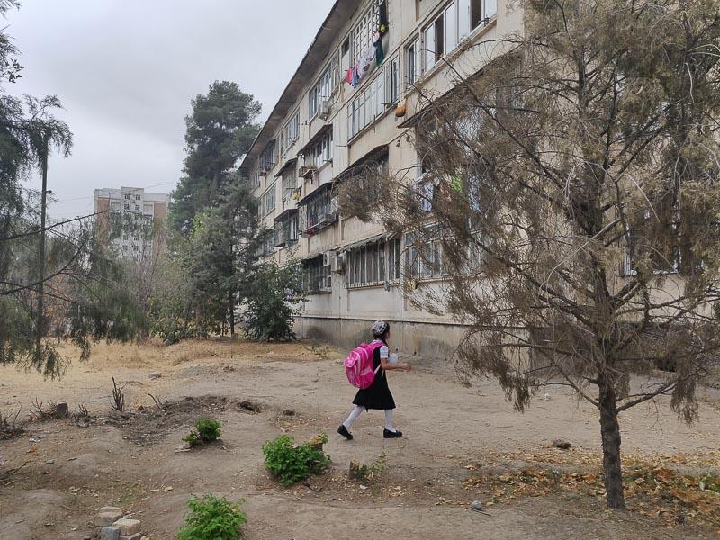 quartiere periferico di Dushanbe