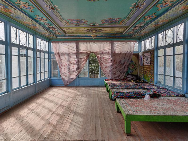 Sala da the a Istaravshan in Tagikistan del Nord