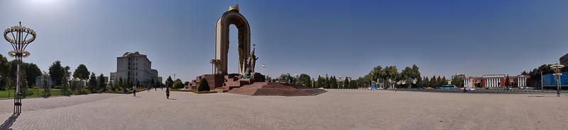 Rudaki park a Dushanbe in Tagikistan