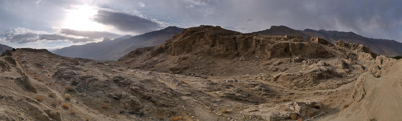 Altopiano del Pamir: veduta panoramica nei pressi di Iskashim