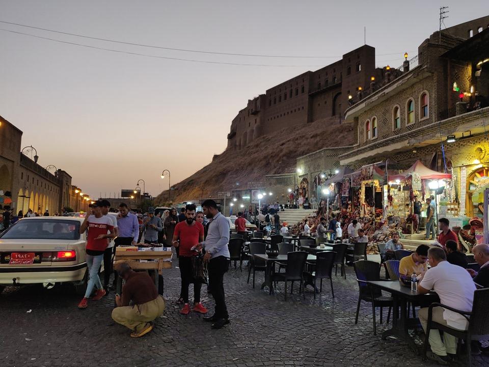 La Cittadella di Erbil al tramonto