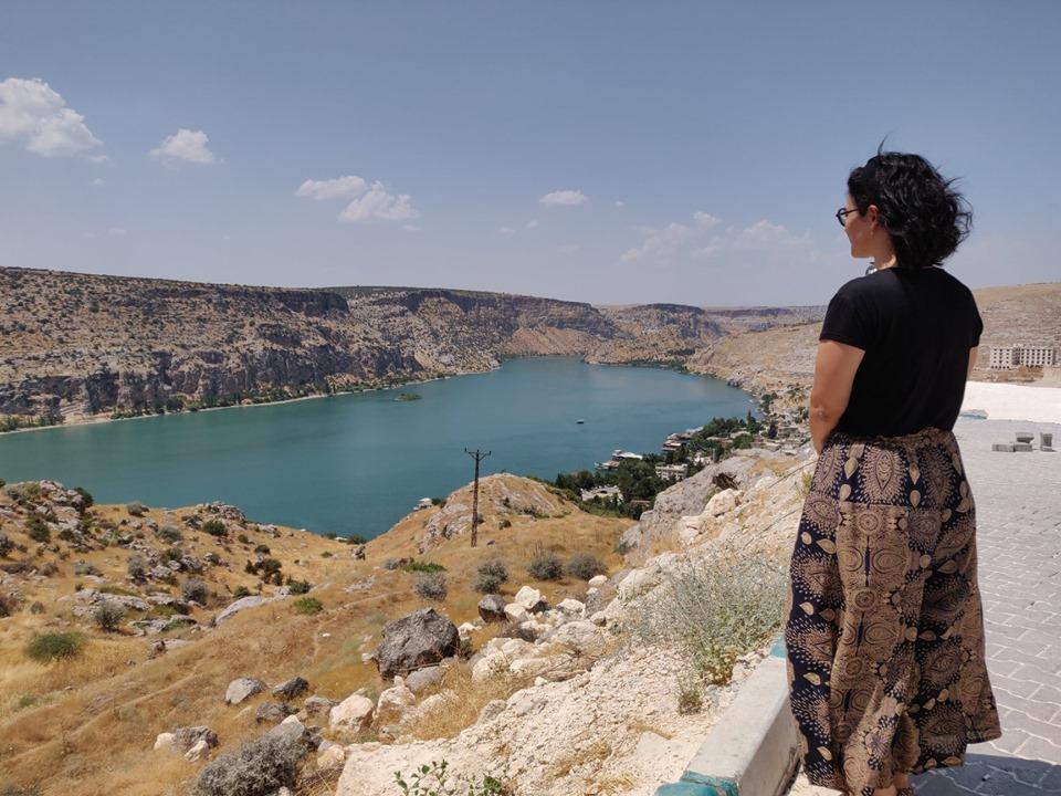 Veduta del fiume Eufrate da Halfeti, la casa della rosa di Halfeti
