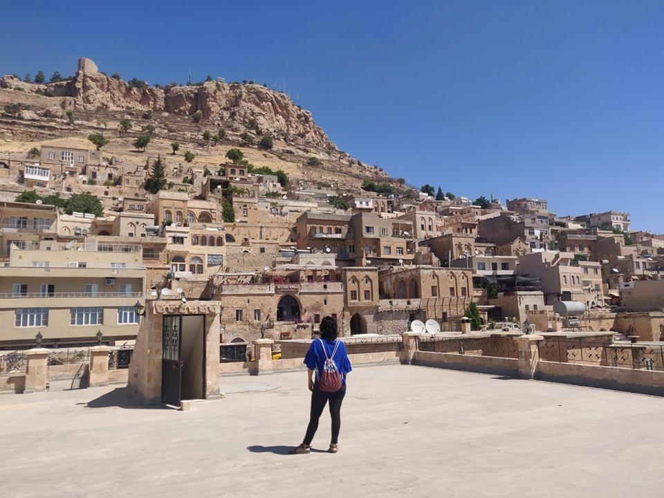 Mardin, vista sulla rocca dalla terrazza dell'Hotel Gazi Konagi (ottima vista anche sulla piana della Mesopotamia)